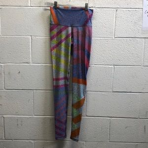 Nlyama sol multi color hi rise leggings sz s 6368